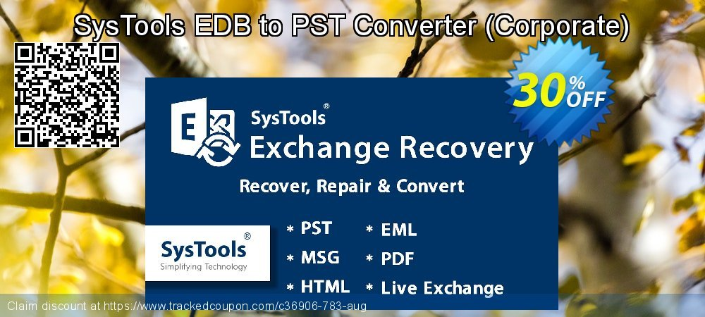 SysTools EDB to PST Converter - Corporate  coupon on Black Friday super sale