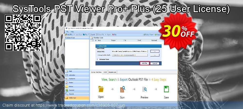SysTools PST Viewer Pro+ Plus - 25 User License  coupon on World Population Day promotions