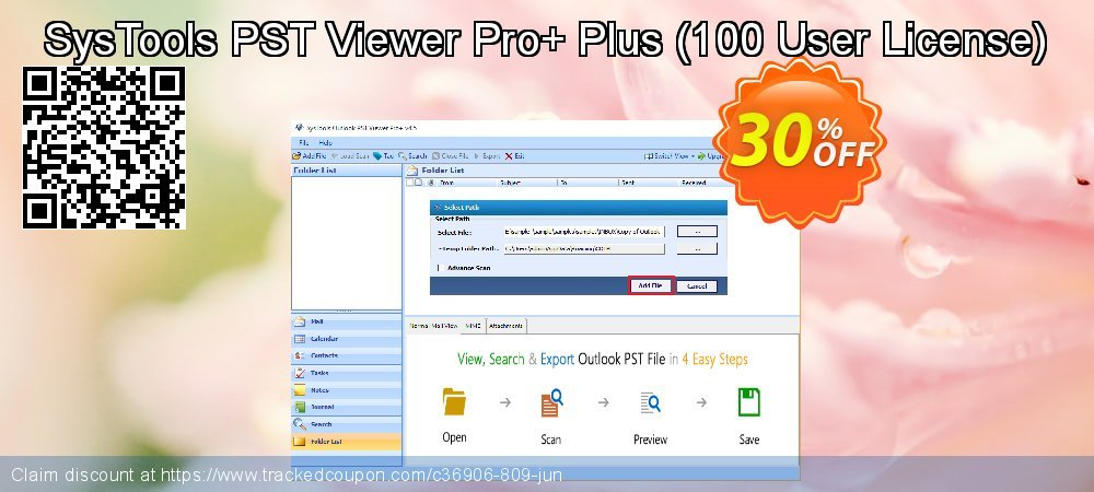 SysTools PST Viewer Pro+ Plus - 100 User License  coupon on Tattoo Day deals