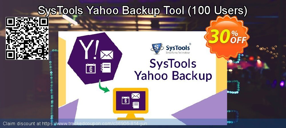 SysTools Yahoo Backup Tool - 100 Users  coupon on July 4th super sale