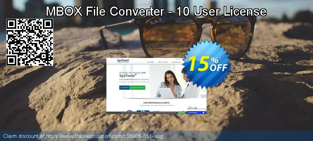 Get 15% OFF MBOX File Converter - 10 User License offer