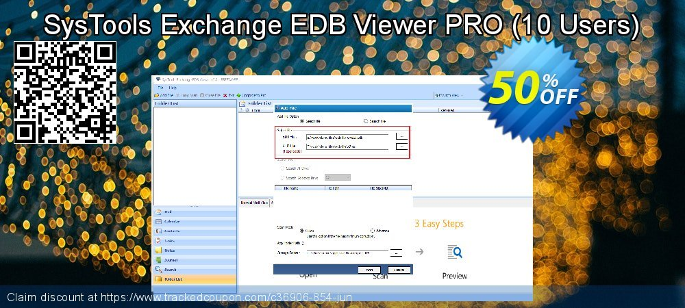 SysTools Exchange EDB Viewer - 10 Users coupon on Thanksgiving offering sales