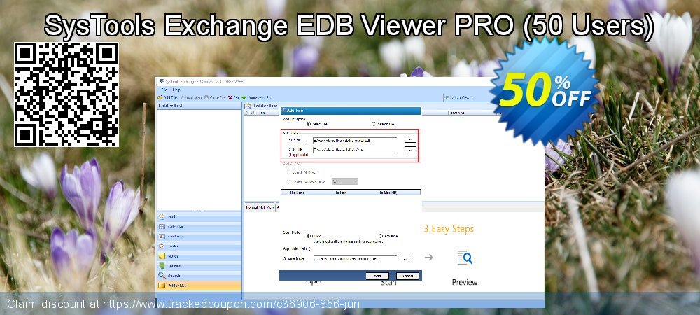 Get 93% OFF SysTools Exchange EDB Viewer - 50 Users offering sales