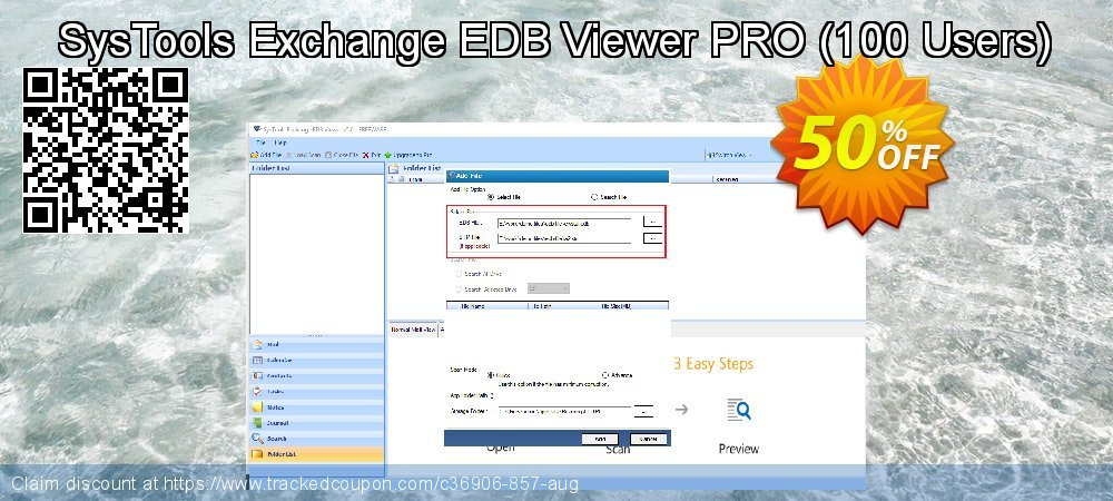 SysTools Exchange EDB Viewer - 100 Users coupon on Summer offering discount