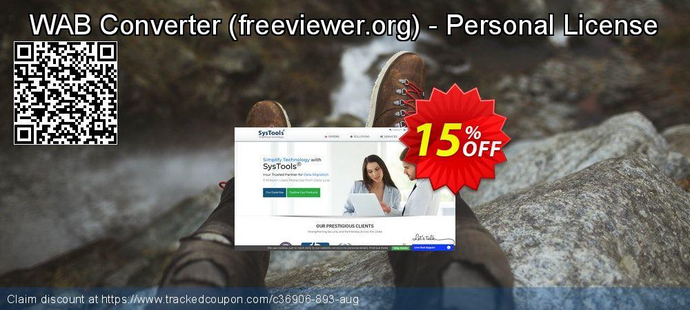 Get 15% OFF WAB Converter (freeviewer.org) - Personal License offering sales