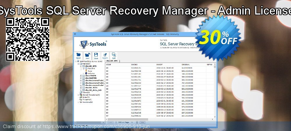 SysTools SQL Server Recovery Manager - Admin License coupon on Easter promotions