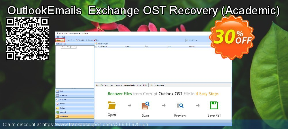 OutlookEmails  Exchange OST Recovery - Academic  coupon on Summer offering discount
