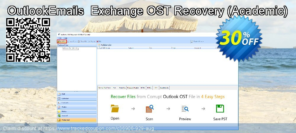 OutlookEmails  Exchange OST Recovery - Academic  coupon on Black Friday promotions