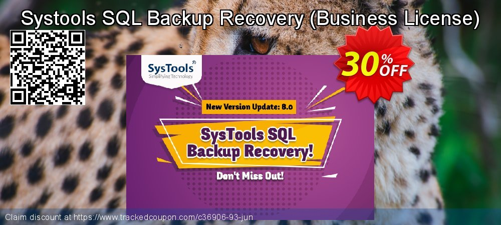 Claim 30% OFF Systools SQL Backup Recovery - Business License Coupon discount July, 2021