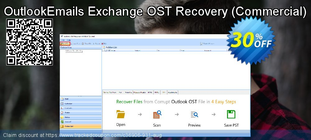 OutlookEmails Exchange OST Recovery - Commercial  coupon on End year offer