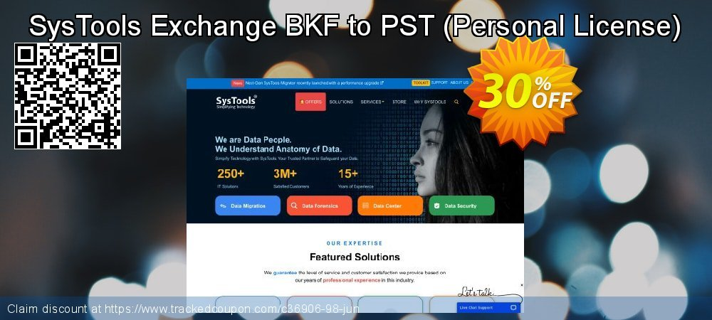 SysTools Exchange BKF to PST - Personal License  coupon on July 4th deals