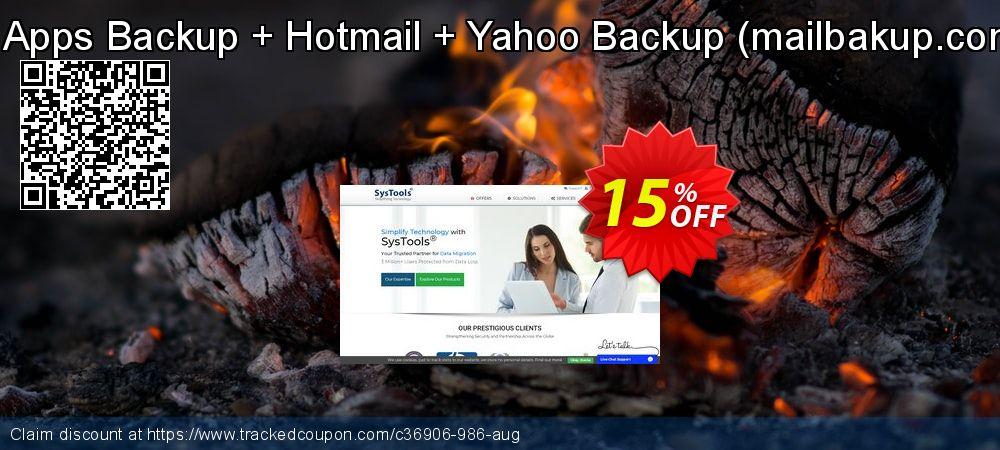 Get 15% OFF Bundle Offer ? Google Apps Backup + Hotmail + Yahoo Backup (mailbakup.com) - 500 Users License offering sales