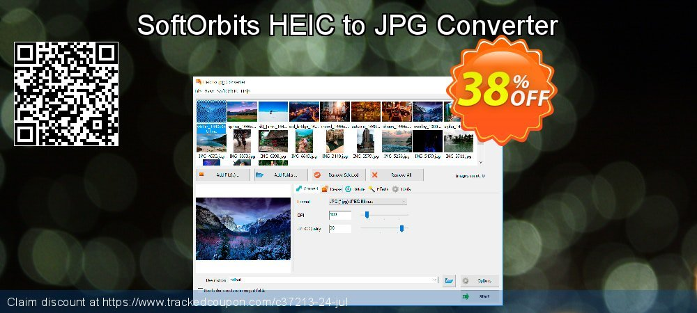 SoftOrbits HEIC to JPG Converter coupon on Autumn offer