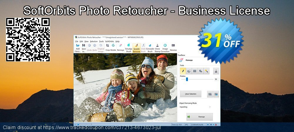 Get 30% OFF SoftOrbits Photo Retoucher - Business License offering sales