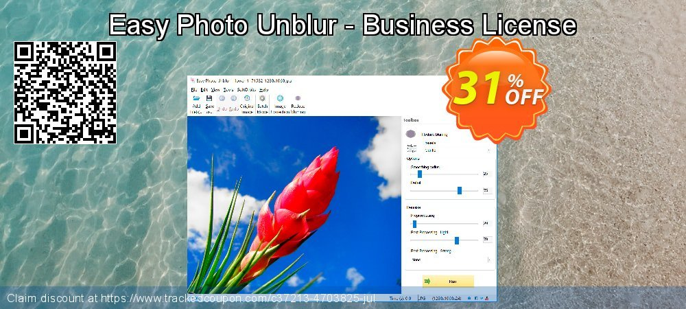 Easy Photo Unblur - Business License coupon on April Fool's Day offering discount