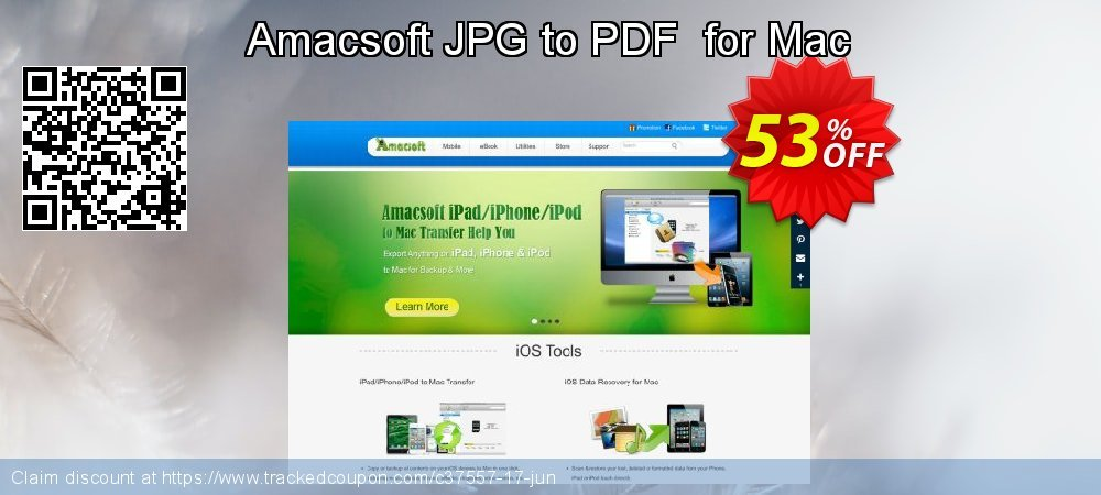 Get 50% OFF Amacsoft JPG to PDF for Mac offering sales