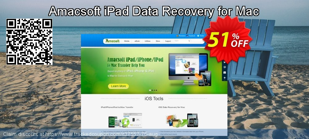 Claim 50% OFF Amacsoft iPad Data Recovery for Mac Coupon discount March, 2019