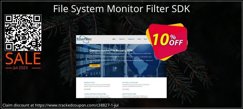 Get 10% OFF File System Monitor Filter SDK offering sales