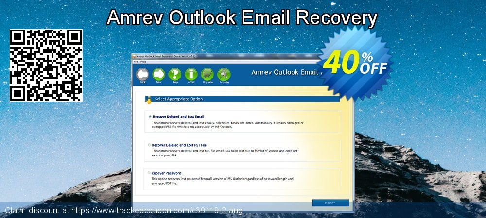 Claim 40% OFF Amrev Outlook Email Recovery Coupon discount February, 2020