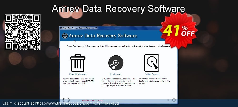 Claim 41% OFF Amrev Data Recovery Software Coupon discount April, 2020