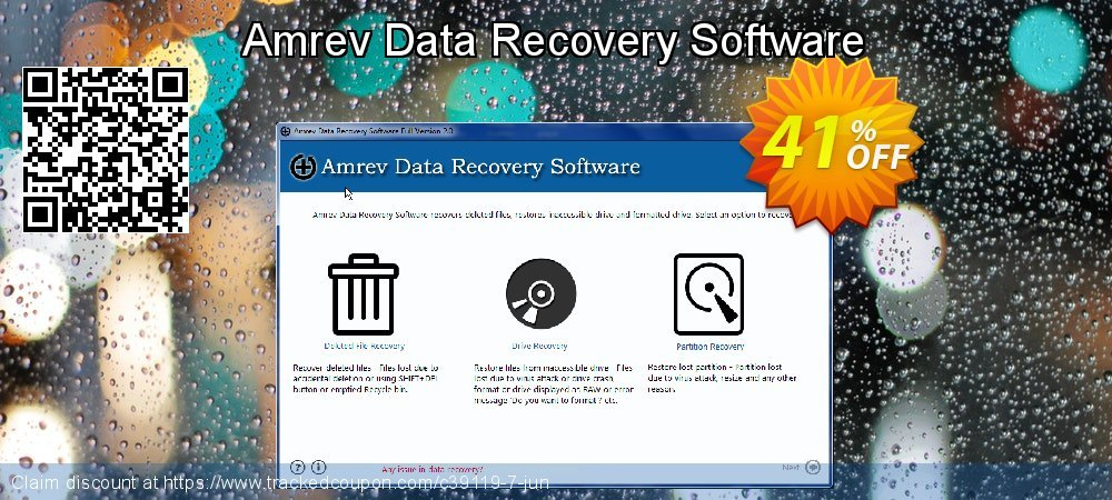 Get 20% OFF Amrev Data Recovery Software offering sales