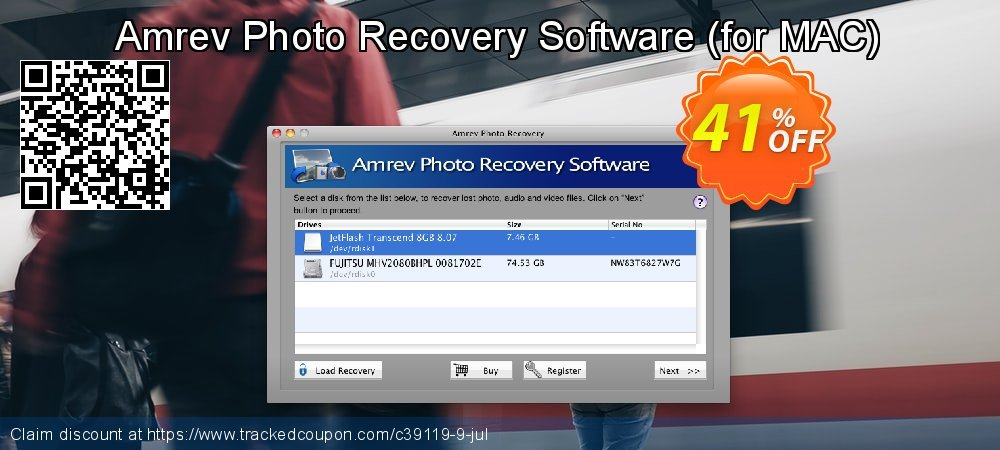 Claim 41% OFF Amrev Photo Recovery Software - for MAC Coupon discount April, 2020