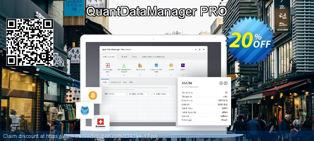 QuantDataManager coupon on Summer offer