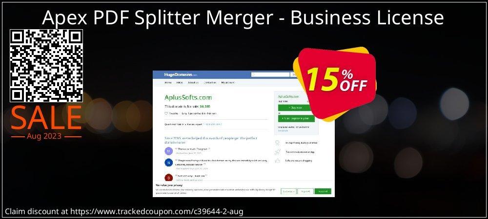 Get 15% OFF Apex PDF Splitter Merger - Business License offering sales
