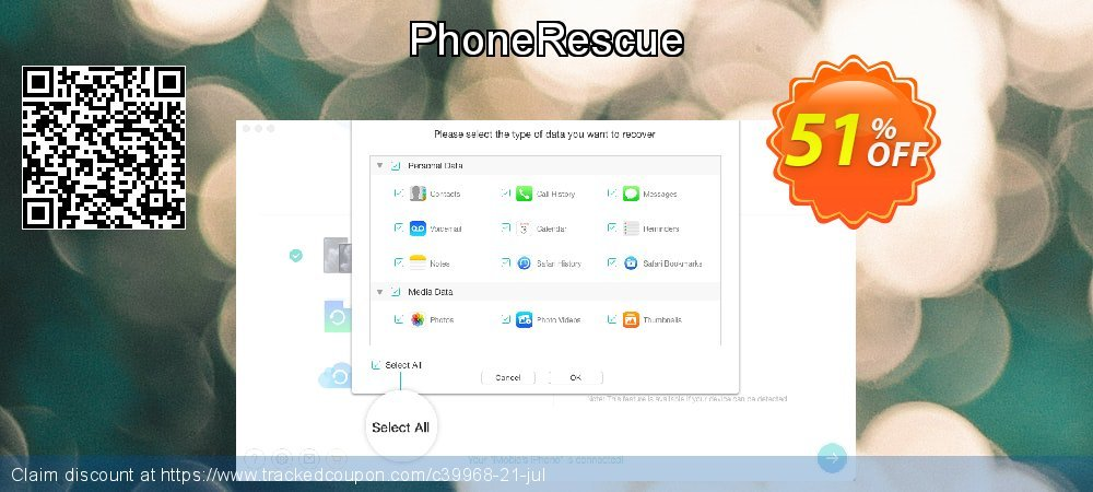 PhoneRescue coupon on Easter Sunday offering sales