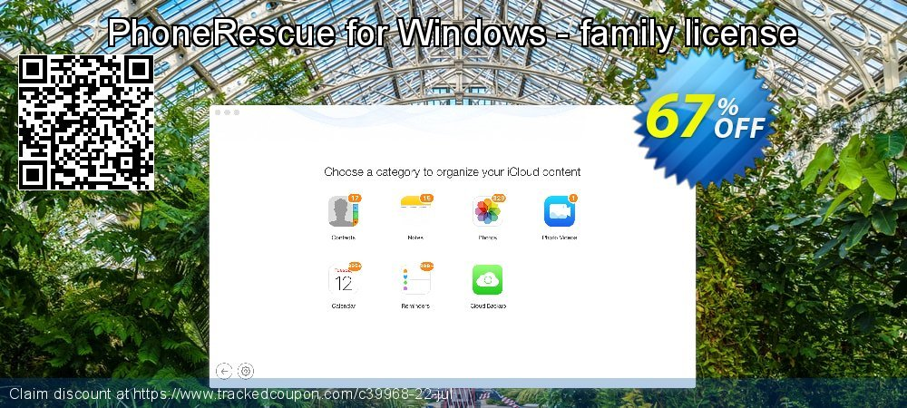 PhoneRescue for Windows - family license coupon on Easter offering sales