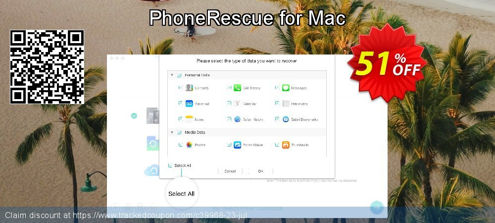 PhoneRescue for Mac coupon on US Independence Day sales