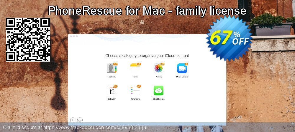 PhoneRescue for Mac - family license coupon on University Student offer offer