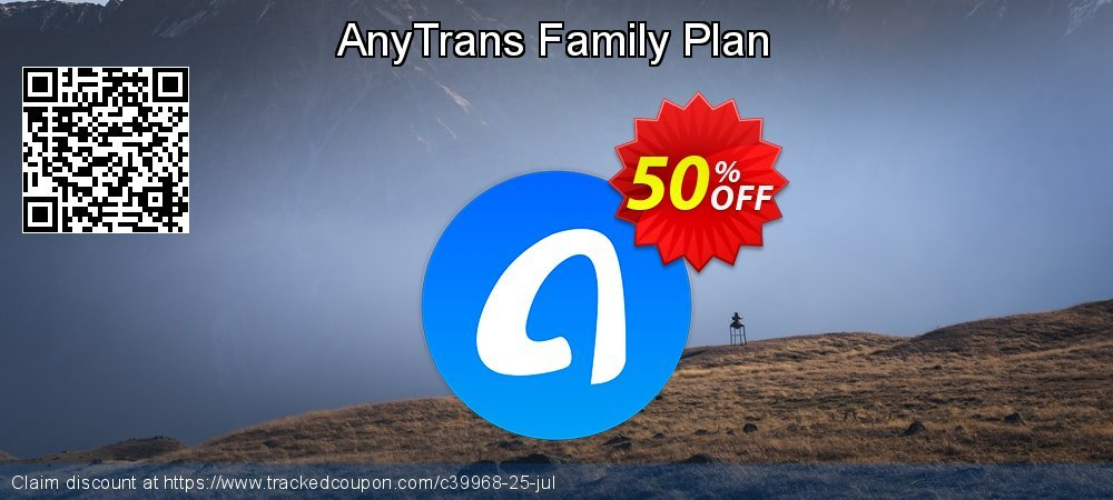 AnyTrans - Family License  coupon on New Year's Day offering sales