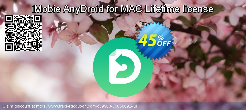iMobie AnyDroid for MAC Lifetime license coupon on World Teachers' Day offer