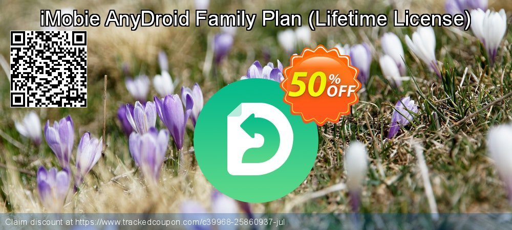 iMobie AnyDroid Family Plan - Lifetime License  coupon on National Savings Day offer