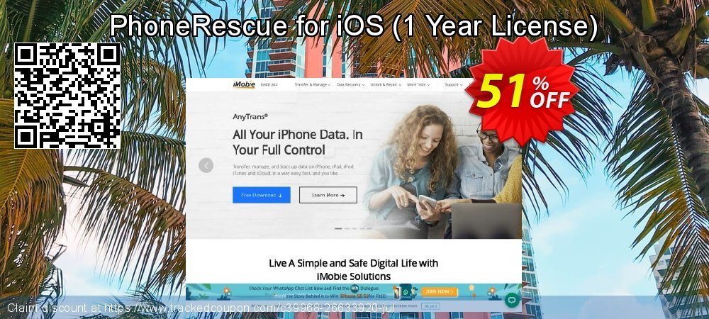 Claim 31% OFF PhoneRescue for iOS - 1 Year License Coupon discount August, 2020