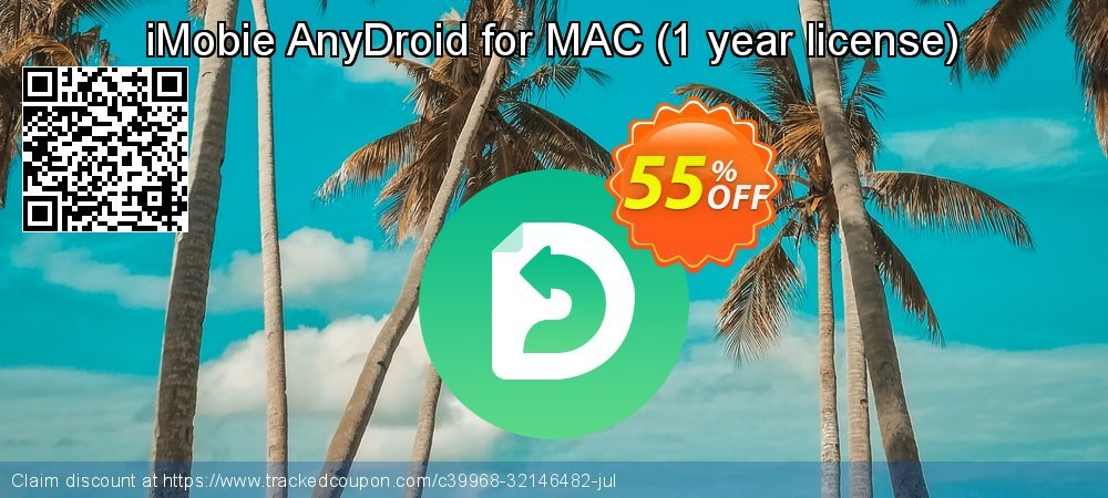 iMobie AnyDroid for MAC - 1 year license  coupon on Navy Day deals