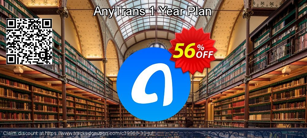 AnyTrans for iOS - 1 year License  coupon on New Year's Day offering discount