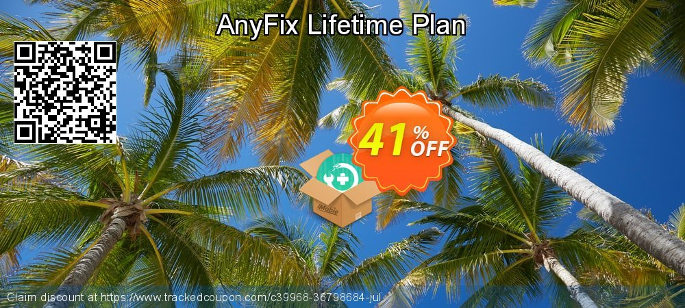 AnyFix Lifetime Plan coupon on World Smile Day offering discount