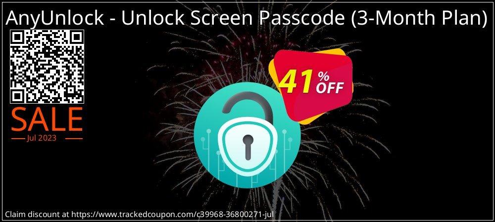AnyUnlock iPhone Password Unlocker - 3-Month Plan  coupon on World Teachers' Day discounts