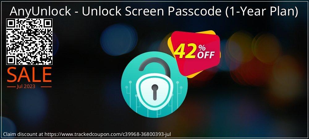 AnyUnlock iPhone Password Unlocker - 1-Year Plan  coupon on National Savings Day discount