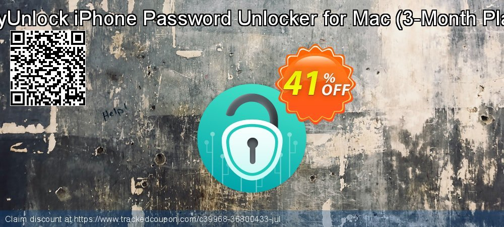 AnyUnlock iPhone Password Unlocker for Mac - 3-Month Plan  coupon on World Smile Day discounts