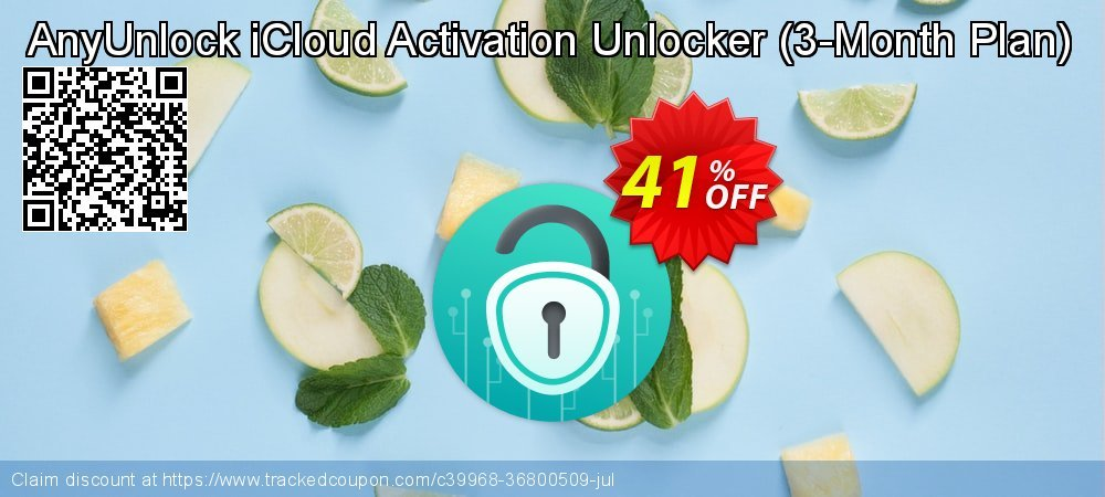 AnyUnlock iCloud Activation Unlocker - 3-Month Plan  coupon on All Hallows' evening offer