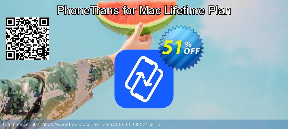PhoneTrans for Mac Lifetime Plan coupon on Navy Day discount