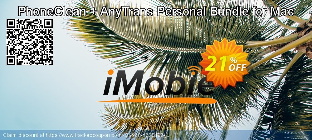 PhoneClean + AnyTrans Personal Bundle for Mac coupon on Chinese National Day deals