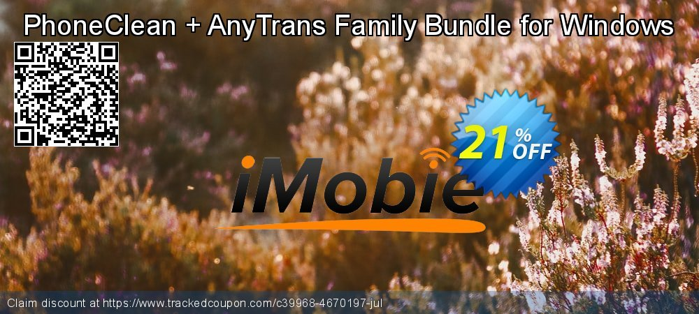 PhoneClean + AnyTrans Family Bundle for Windows coupon on Navy Day offering sales
