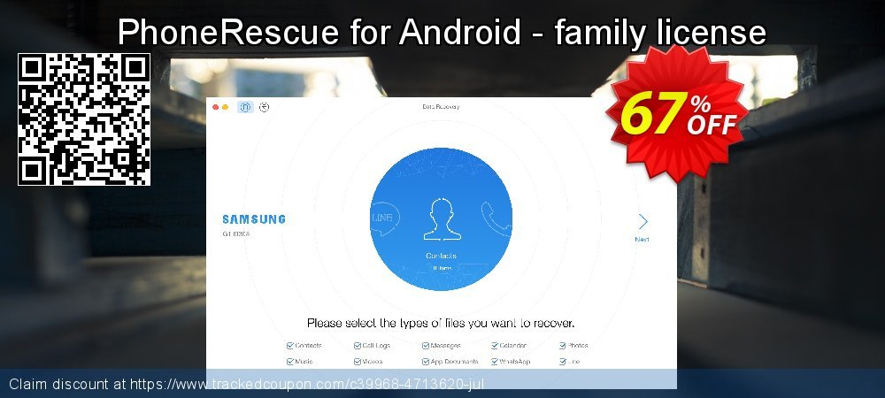 PhoneRescue for Android - family license coupon on Exclusive Student deals deals