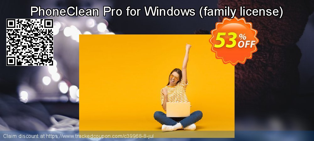 Get 47% OFF PhoneClean Pro for Windows - family license promo