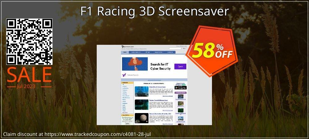Get 50% OFF F1 Racing 3D Screensaver offering sales