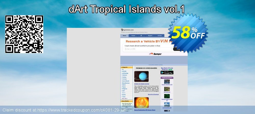 dArt Tropical Islands vol.1 coupon on New Year's Day offering sales